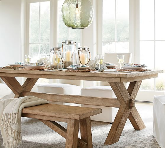 Lime Washed Farmhouse Tables And Benches Bespoke Sizes: Toscana Extending Dining Table - Seadrift Finish