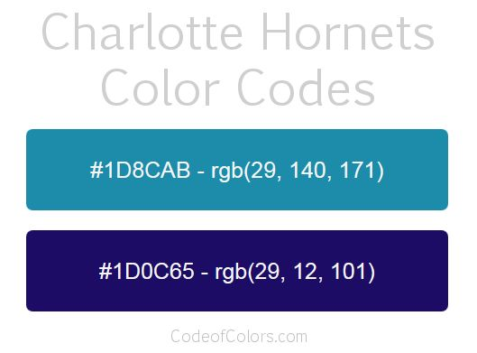 charlotte hornets team color codes