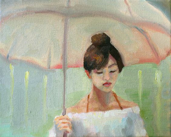 """Rain"" by Soirsce Wu  #oil #paint #painting #figure #art #soirsce"