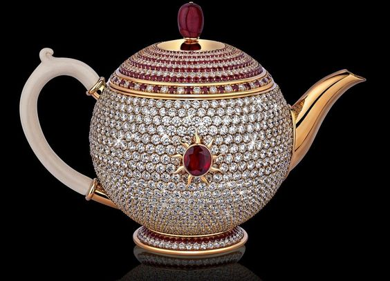 At $3 million the world's most expensive tea pot comes studded in sparkling diamonds