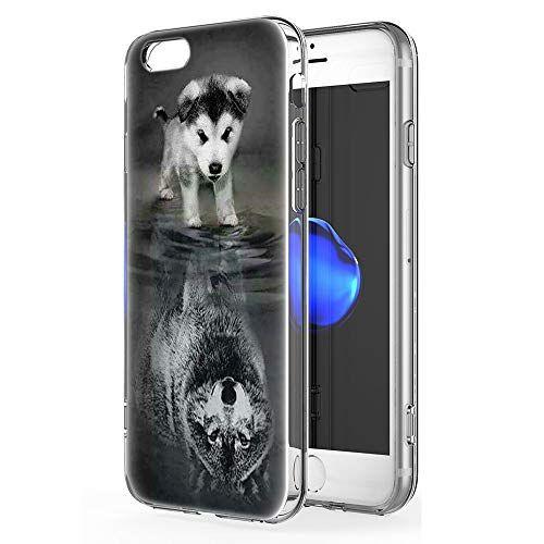 Pnakqil Coque iPhone 6s / 6 Etui en Silicone 3D Transparent avec ...