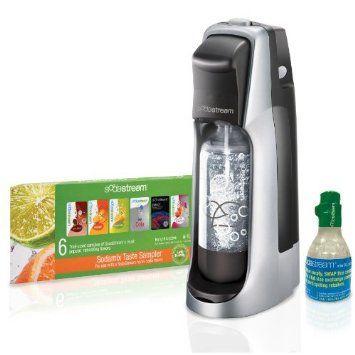 Amazon.com: SodaStream Fountain Jet Home Soda Maker Starter Kit, Black and Silver: Kitchen & Dining CHRISTMAS PLEASE :)