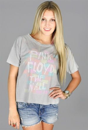 Chaser Pink Floyd The Wall Tie Dye Boxy Tee from Boutique to You