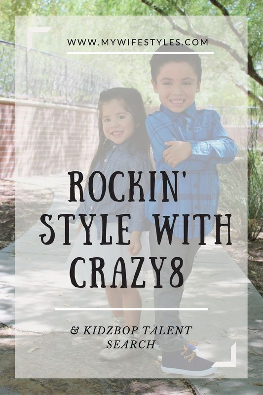 Crazy 8 kids clothing with an opportunity for your child to be a star in the next Kidz Bop music video