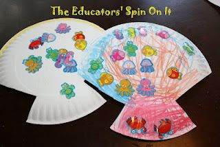 Eric Carle inspired shell craft