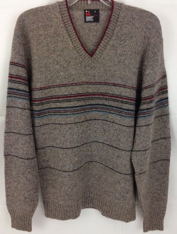 Vintage Robert Bruce Wool Blend Winter Sweater Pullover V Neck Sweater, ***M/L…