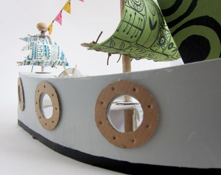 cardboard pirate ship template - cardboard toys diy pirate ship toys mom and pirates