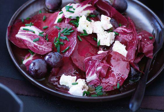 Roter-Rüben-Salat mit Radicchio und Ziegenkäse