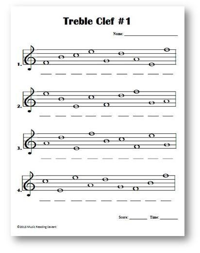intro to treble spaces note names kids worksheet - Google Search ...