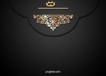 Gold Lace Pattern On A Black Background Invitations Damast Zoloto Dizajn