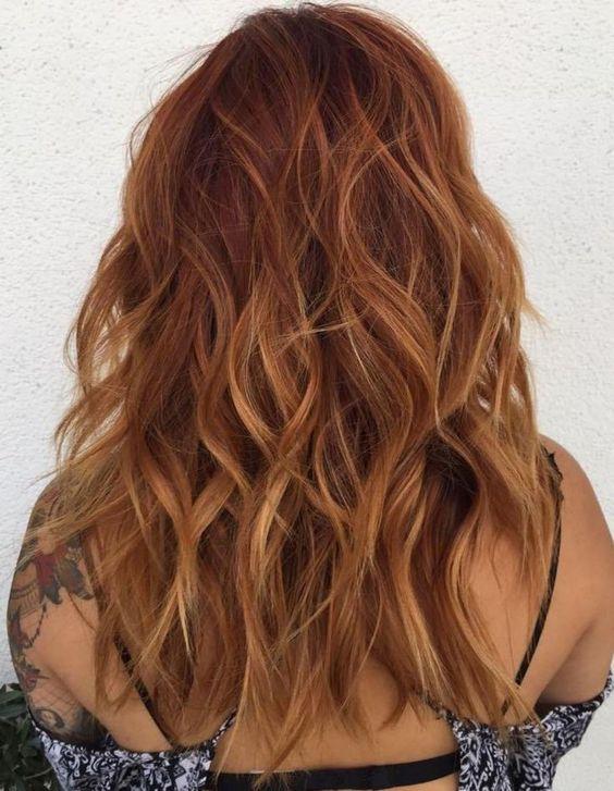 auburn hair with highlights