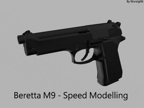 [3DS MAX] Beretta M9 - Speed Modelling - YouTube