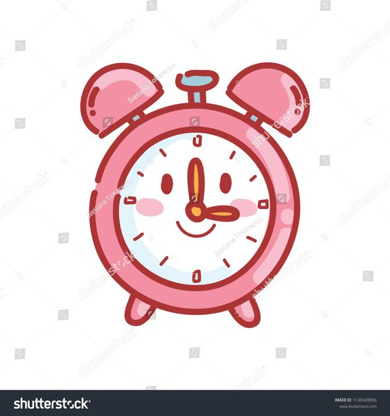 Cute Alarm Clock Character With Eyes Vector Cartoon Illustration Set Of Pictures In School Theme In Han Girl Iphone Wallpaper Cute Alarm Clock Clock Drawings
