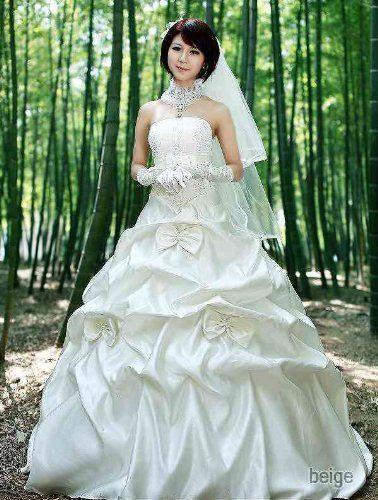 Amazon.co.jp: リボンドレープウエディングドレス: 服&ファッション小物
