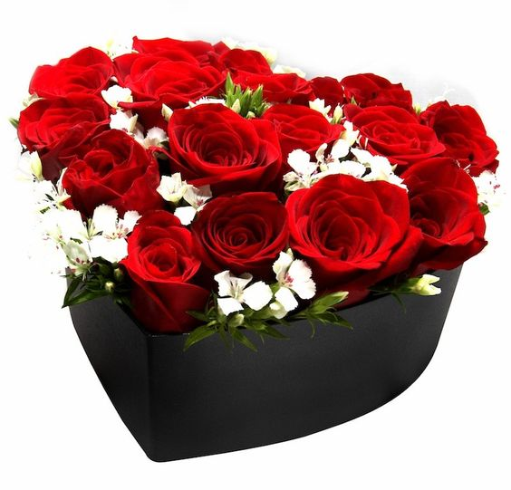 Roses Arranged in a Heart-shaped Box | HongKongLocalFlorist.com (Valentine's Day Flower Specials):