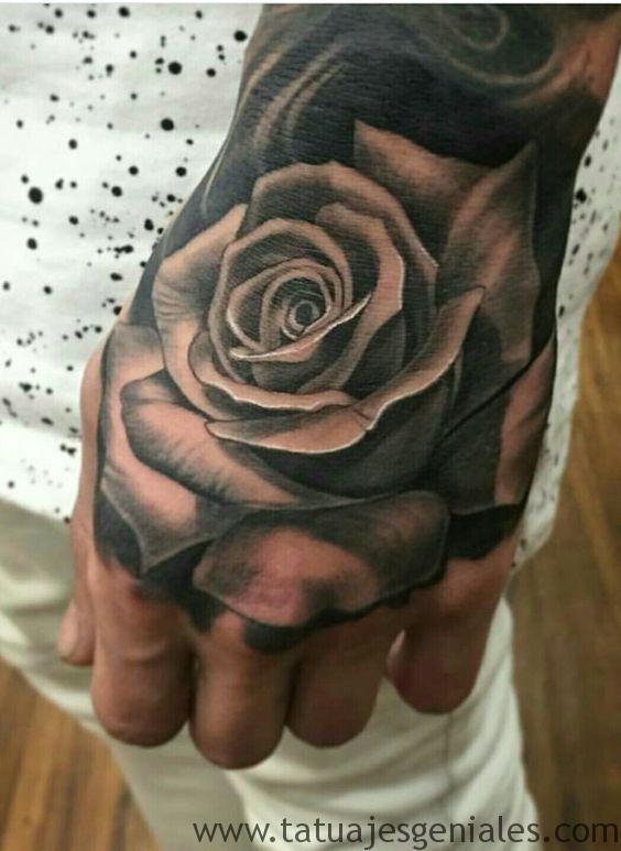 80 Tatuajes De Rosas Y Sus Significados Imagenes Tatuaje De Rosa En La Mano Tatuajes De Rosas Tatuajes De Rosas Para Hombres
