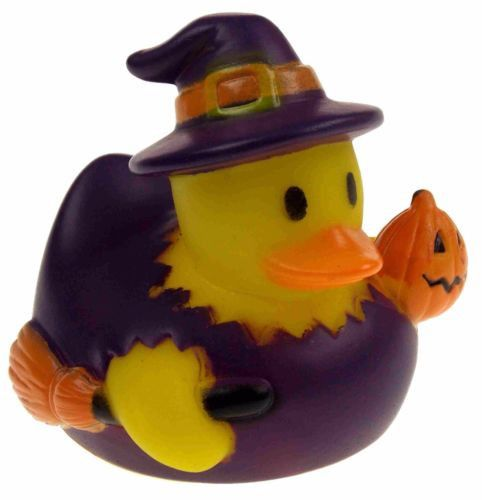Set 12 Halloween Witch Rubber Ducks Duckie Party Favors Cake Toppers Dozen NEW