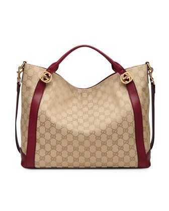 price of hermes bag - Miss GG Medium Original GG Canvas Top Handle Bag, Tan/Red by Gucci ...