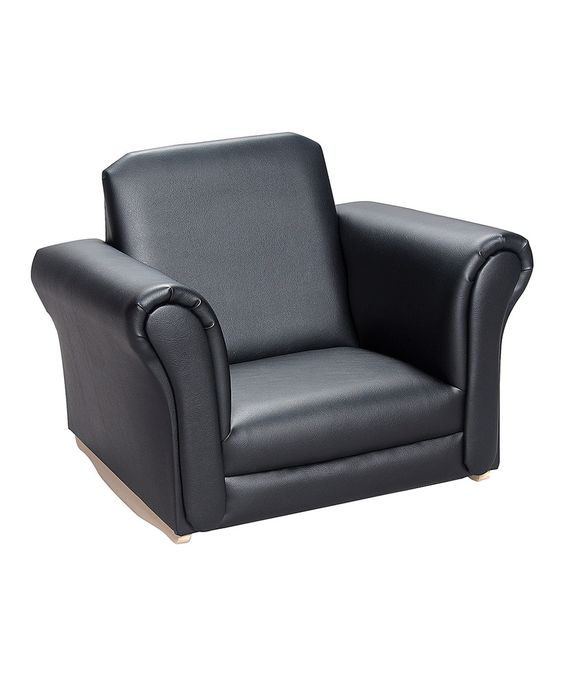 Look what I found on #zulily! Black Upholstered Rocking Chair by Gift Mark #zulilyfinds