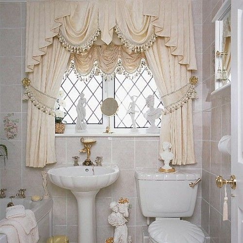 What Type Of Bathroom Window Curtain Designs Looks Good With