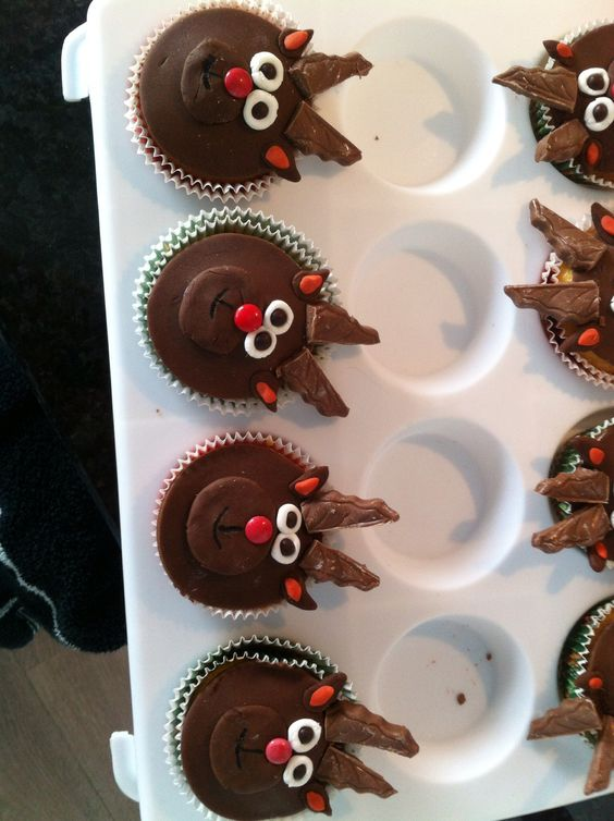 Rendiercupcakes