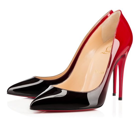 christian louboutin loafers replica - PIGALLE FOLLIES PATENT DEGRADE, BLACK-RED, Patent, Women Shoes ...