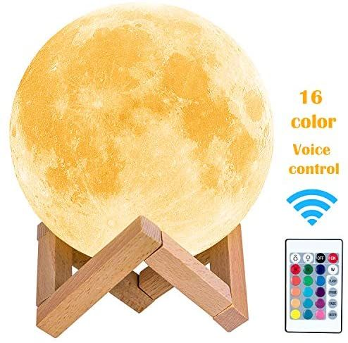 Toyuugo Moon Lamp 5 9 Inch 3d Print Led Moon Light Lamp Moon Light For Kids Dimmable Touch Control Brightness Light For Home In 2020 Moon Light Lamp Lamp Light Lamp