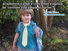 J'ai préparé une liste de questions auxquelles mon fils pourrait répondre d'un simple mot… ou même d'un grognement. Découvrez l'astuce ici : http://www.comment-economiser.fr/questions-poser-enfant-ecole.html?utm_content=buffer91c1f&utm_medium=social&utm_source=pinterest.com&utm_campaign=buffer