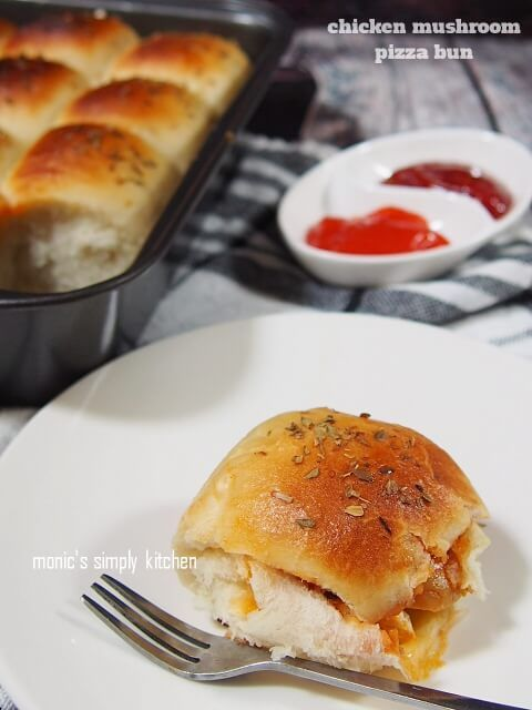 Chicken Mushroom Pizza Bun Jamur Resep Makanan Resep