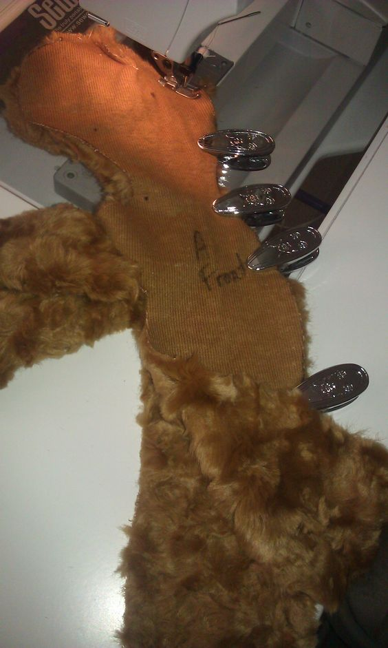 Carol Bledsoe brings a teddy bear to life in fake fur for her grandaughter!
