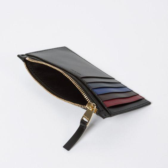Paul Smith men's black calf leather suit wallet