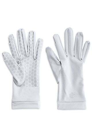 By customer request, our SPF driving gloves have been redesigned to include silicone print grippers on the palms and fingers for added grip and dexterity. Still made with our soft and comfortable 4-way stretch mesh construction, these sun gloves are wrist length with full finger coverage. UV Sun Gloves provide a shield everyone can benefit from. Whether you're driving, have sun sensitivity or just enjoying the outdoors, your hands see the sun.