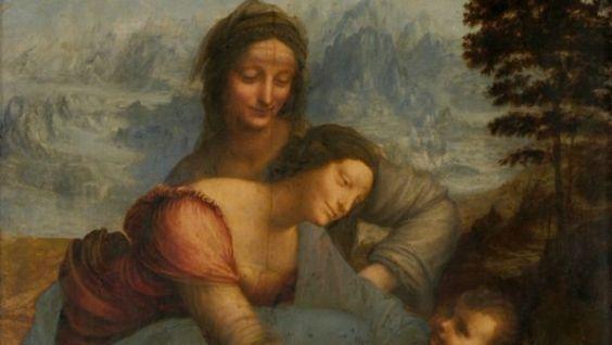 """""""Sant'Anna, la Vergine e il Bambino"""": l'ultimo capolavoro di Leonardo in mostra al Louvre"""