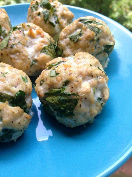 Feta and Spinach Turkey Meatballs