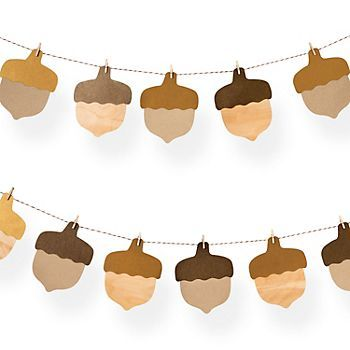 Acorn Garland Kit I read you can have the kids write what they are thankful for on each acorn.