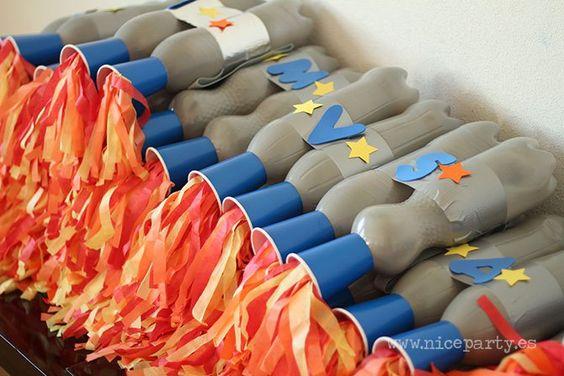 Nice Party fiesta espacio extraterrestres Propulsores con botellas (2)