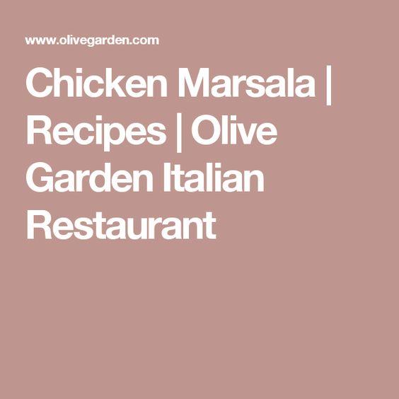 Chicken Marsala | Recipes | Olive Garden Italian Restaurant