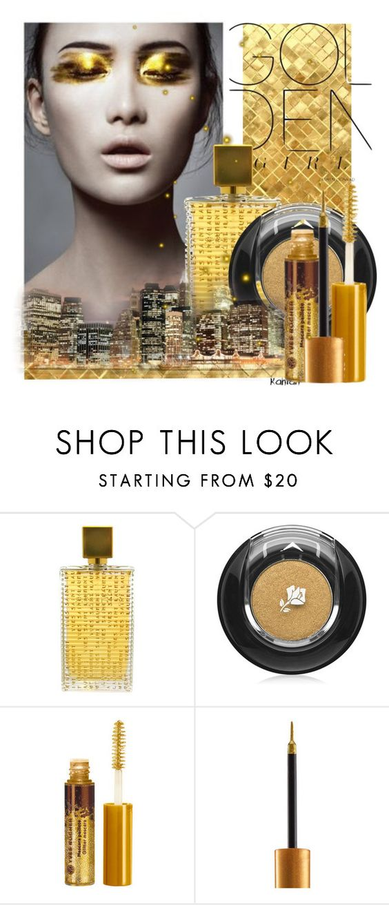 """""""gold beauty"""" by vicuka ❤ liked on Polyvore featuring güzellik, Lauren Conrad, Yves Saint Laurent, Lancôme ve Urban Decay"""