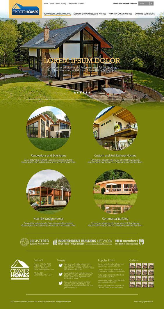 Website design for Crozier Homes.