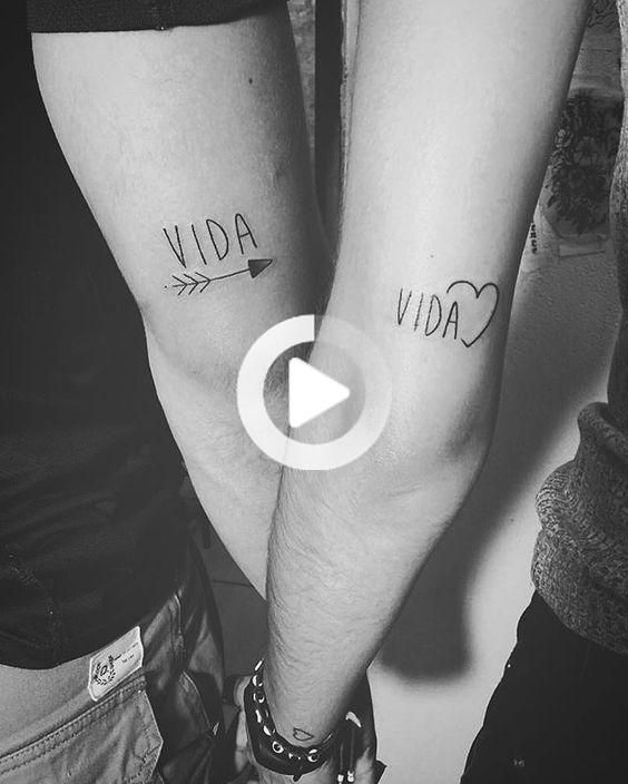 Sentence Life And Love In Couples Tattoos For Lovers Matching Couple Tattoos Couple Tattoos