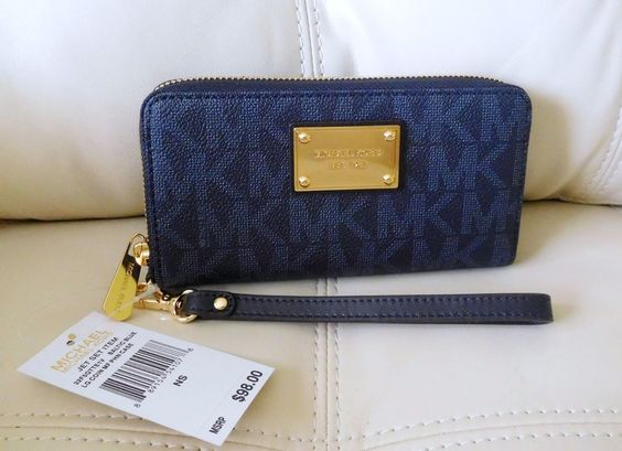 New Michael Kors Jet Set Item Large Coin Multi Function Phone Case Baltic Blue #MichaelKors #PhoneCase