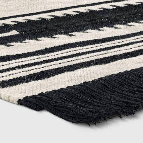 Sylviidae Stripe Woven Rug Black Opalhouse Target Woven Rug