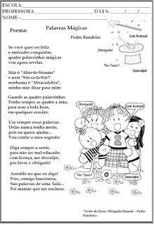Ler com prazer: Texto: Palavras Mágicas (Pedro Bandeira ...