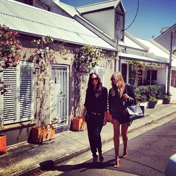 Walking, talking, shopping in the sun.