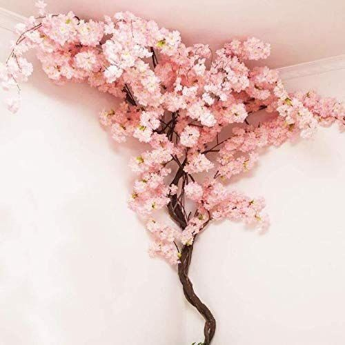 Dusaner Home Decor Wonderful Artificial Cherry Blossom Tree Pink Fake Sakura Flo 10 In 2020 Artificial Cherry Blossom Tree Fake Flowers Decor Cherry Blossom Decor