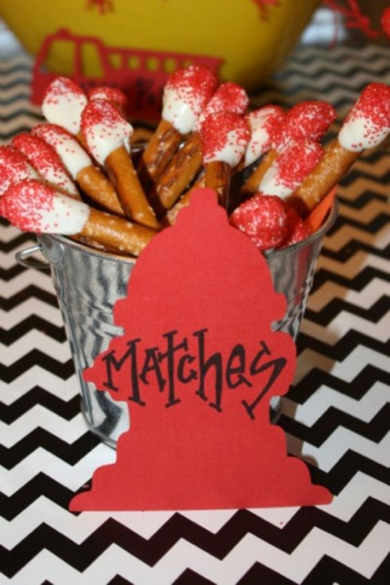 Party Food Ideas for Fireman Birthday Party www.spaceshipsandlaserbeams.com