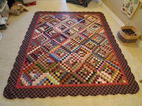 Quilt with Bonnie Hunter's Around the World blocks