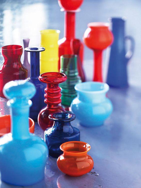 //// colorful scandinavian vases