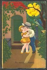 KA085 ART DECO ENFANTS LUNE COUPLE of CHILDREN Romance Humanized MOON AMAG
