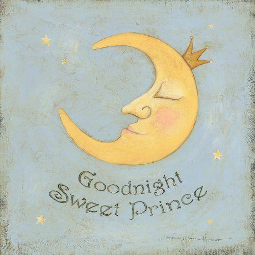 "Art 4 Kids ""Goodnight Sweet Prince"" Mounted Art Print, 12""x12"" www.amazon.com"